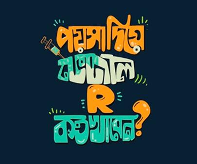 bangla - creative typography inspirational design