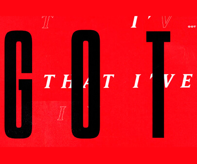 Mtv PUSH - creative maxi typography design example for inspiration