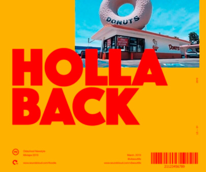Holla-Back - creative maxi typography design example for inspiration