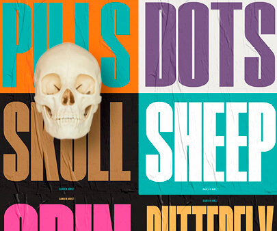 Damien-Hirst - creative maxi typography design example for inspiration