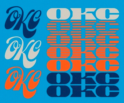 OKC Freelancing Workshop - creative maxi typography design example for inspiration