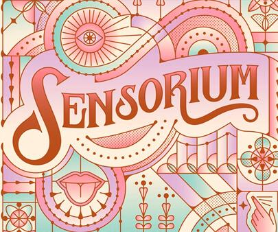Sensorium - creative maxi typography design example for inspiration
