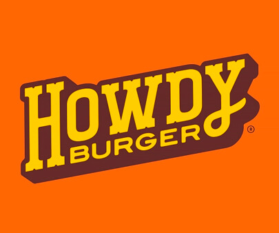 Howdy Burger - creative maxi typography design example for inspiration