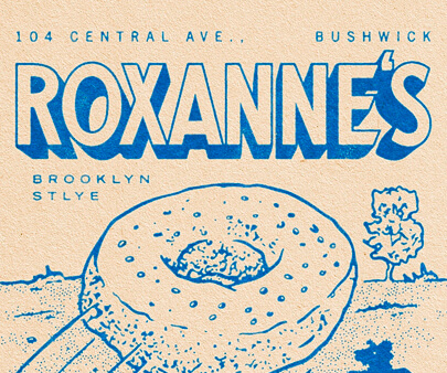 Roxanne - creative maxi typography design example for inspiration