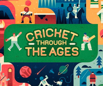 Cricket - creative maxi typography design example for inspiration