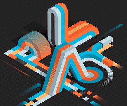 ISOTYPE - creative 3D typography design example