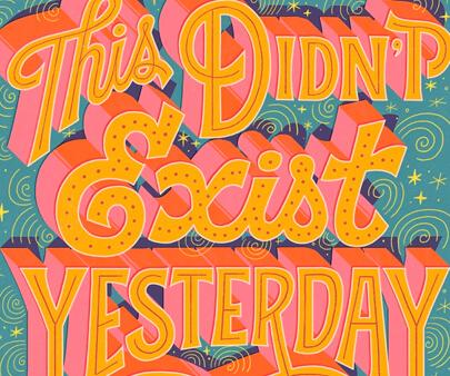 Exist - creative 3D typography design example