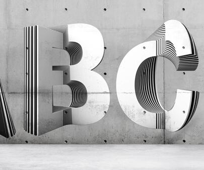 Layer typography - creative 3D typography design example