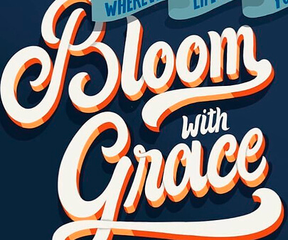 bloom - creative 3D typography design example