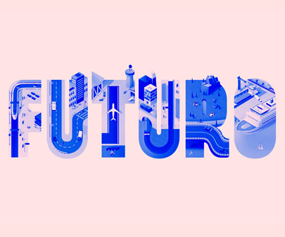 Future - creative image-masking typography design example for inspiration