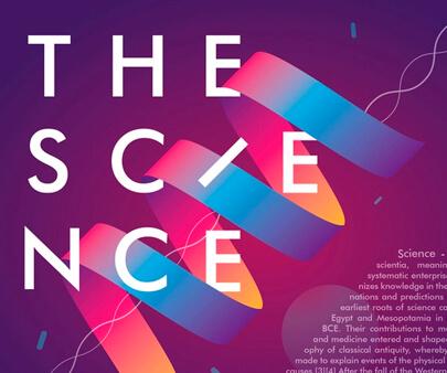 Science - interactive creative typography design inspiration example