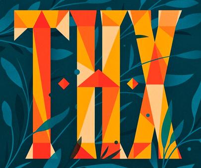 Happy Thxgiving - interactive creative typography design inspiration example