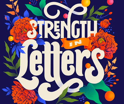 Strength In Letters - interactive creative typography design inspiration example