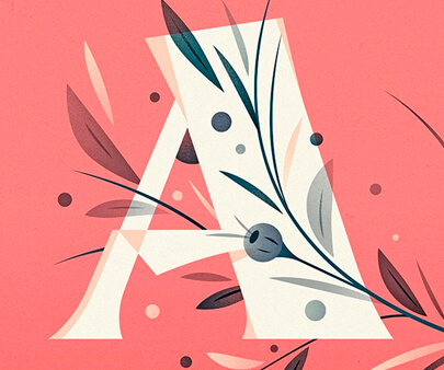 floral A - interactive creative typography design inspiration example
