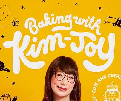 Baking With Kim Joy - liquid and texture creative typography design inspiration example
