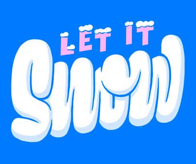 Snowy Script Study - liquid and texture creative typography design inspiration example