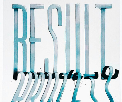 Result Process - liquid and texture creative typography design inspiration example