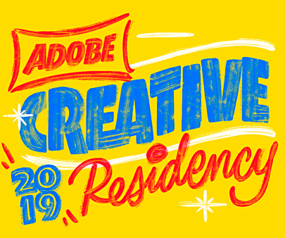 Adobe Residency - creative hand-drawn typography design inspiration example