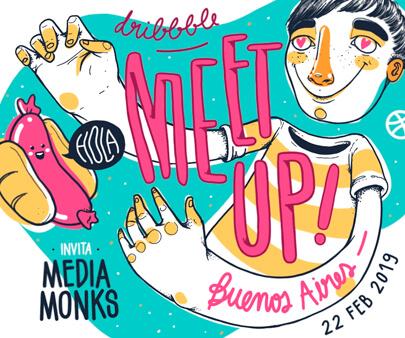 Meetup Buenos - creative hand-drawn typography design inspiration example