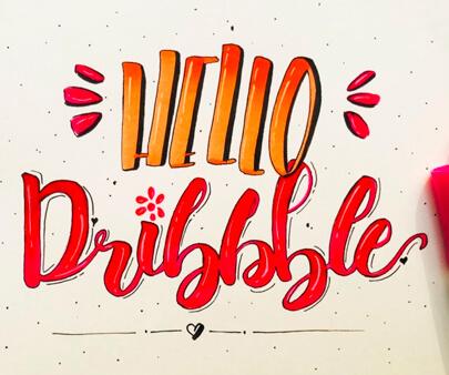 Hello - creative hand-drawn typography design inspiration example