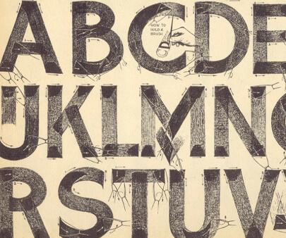 brush - creative hand-drawn typography design inspiration example