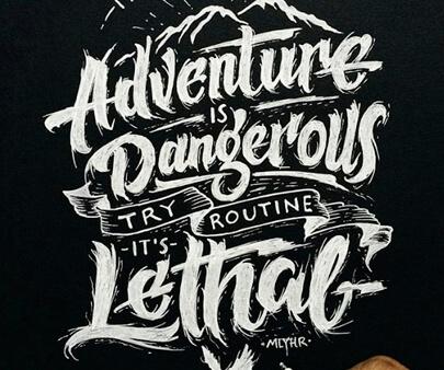 adventure - creative hand-drawn typography design inspiration example