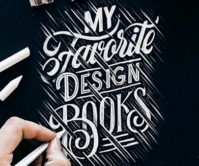 favourite - creative hand-drawn typography design inspiration example
