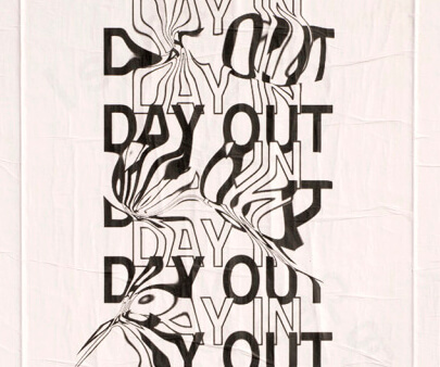 day out - creative distorted typography design inspiration example