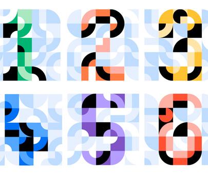 Uber - creative geometry typography design inspiration