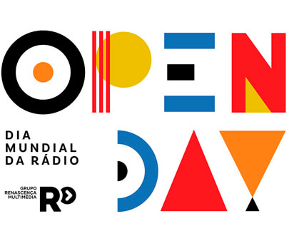 Open Day - creative geometry typography design inspiration