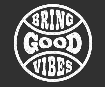 Bring Good Vibes - Creative shape typography design inspiration
