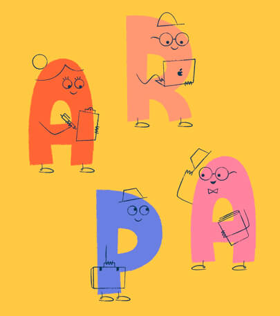 cartoon characters - Creative character letters typography design inspiration