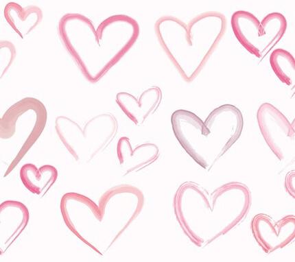 free vector handmade hearts