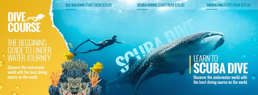 Scubedive social media cover banner