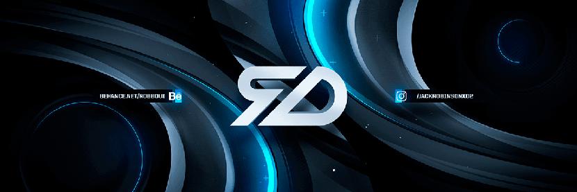 3D social media cover banner