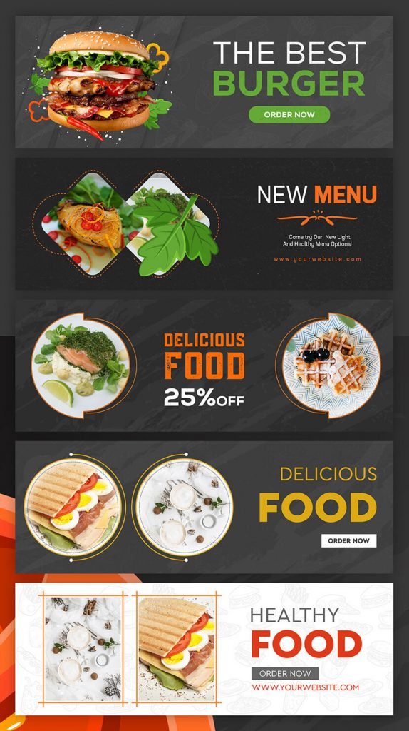 food banner designs for inspiration