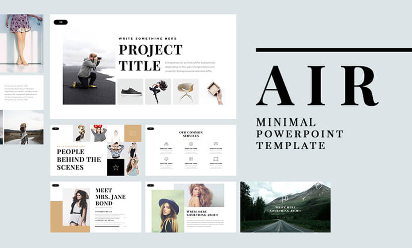 free air minimal powerpoint template