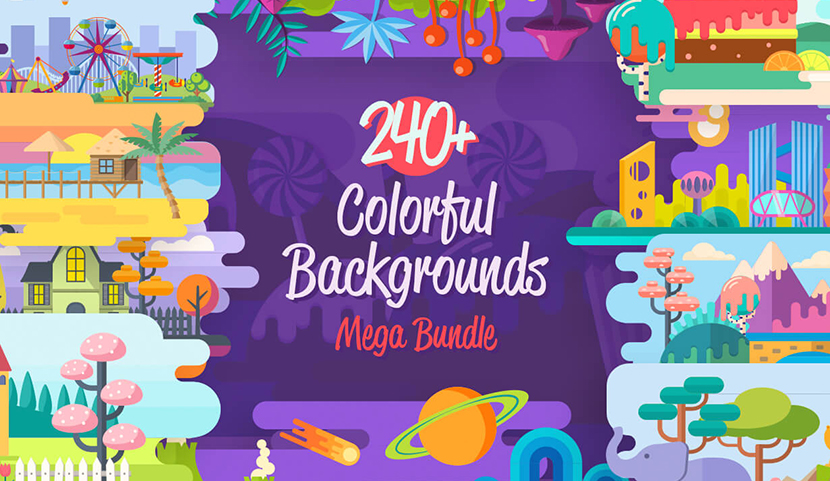 colorful vector background illustrations for web design