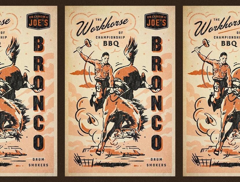 OKJs Bronco vintage poster style design example