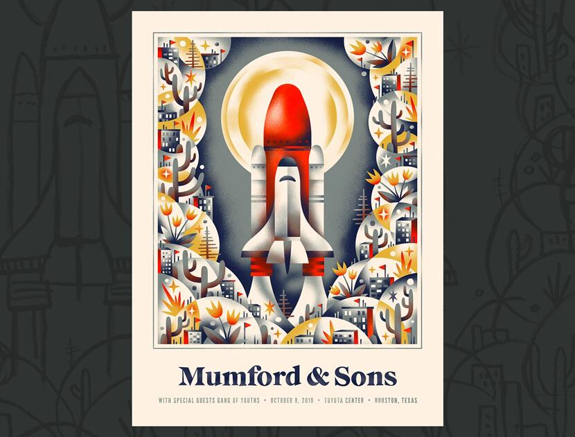 Mumford Sons creative retro poster example