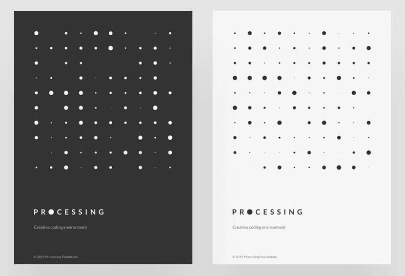 Processing dots geometry poster example