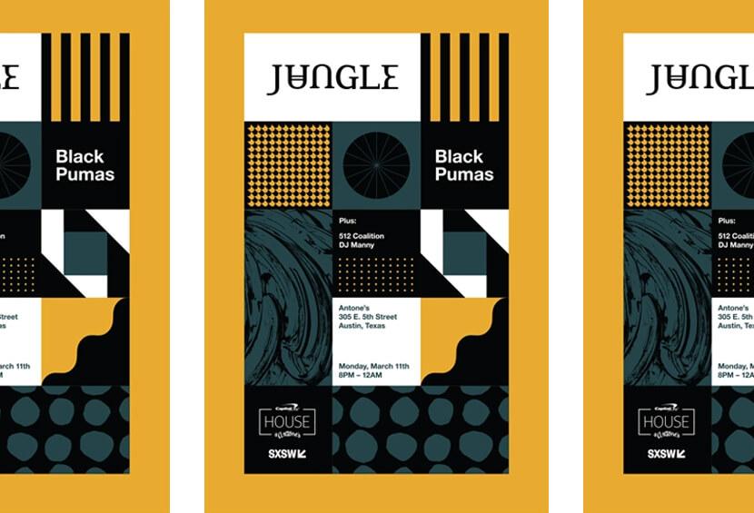Jungle SXSW beautiful geometry poster example