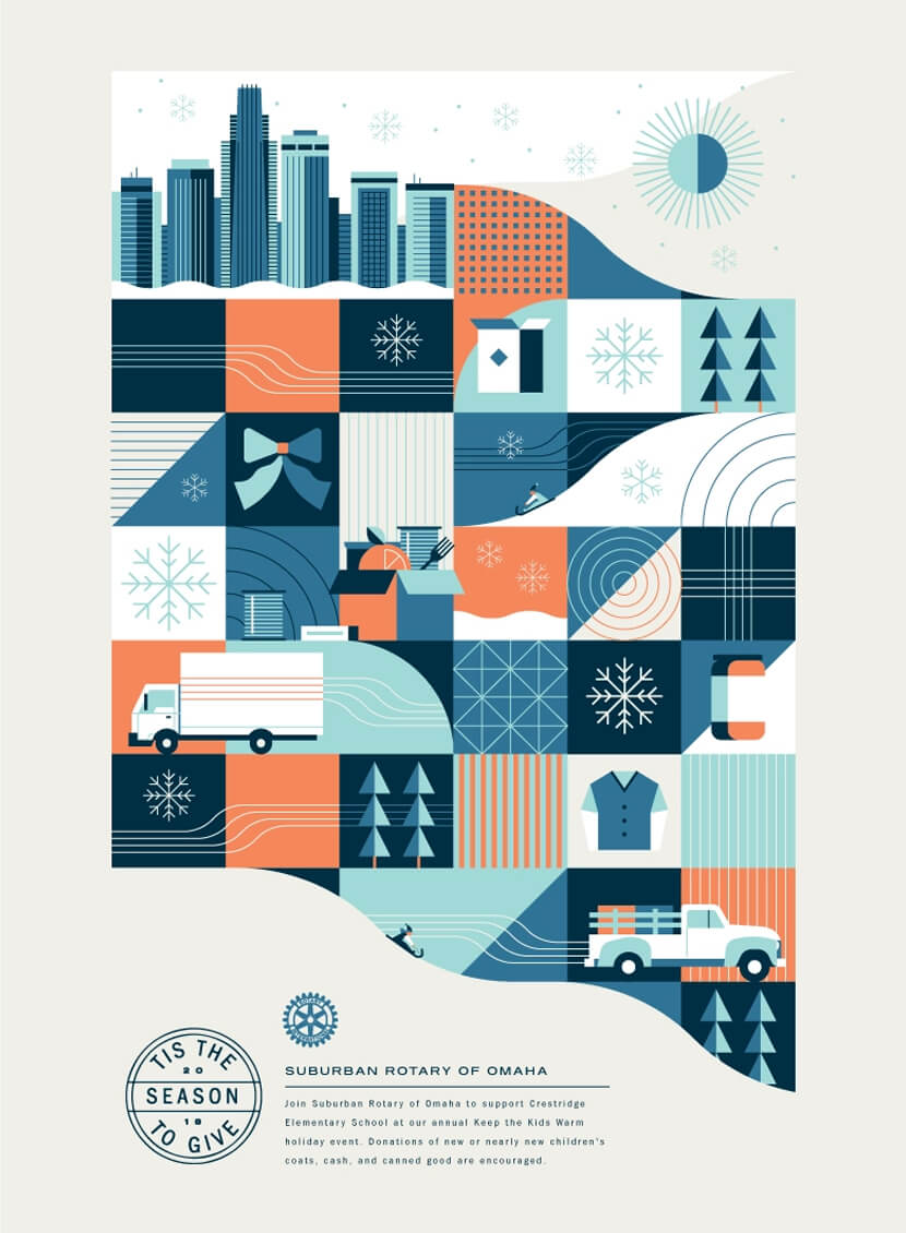 Adobe Insiders Holiday geometry poster example