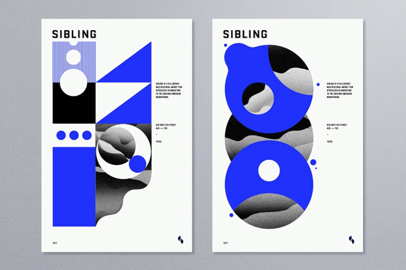 Sibling geometry poster example