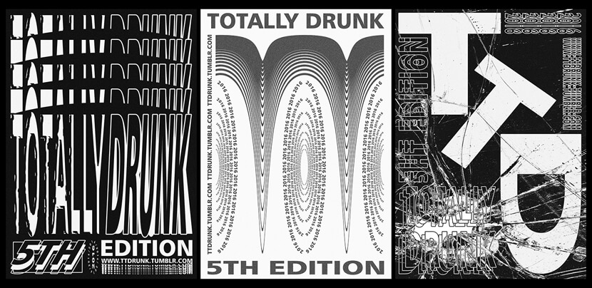 TTDRUNK typography poster example