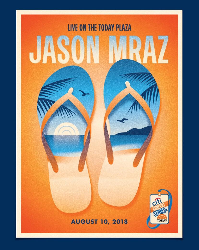Jason Mraz cool summer illustration poster example