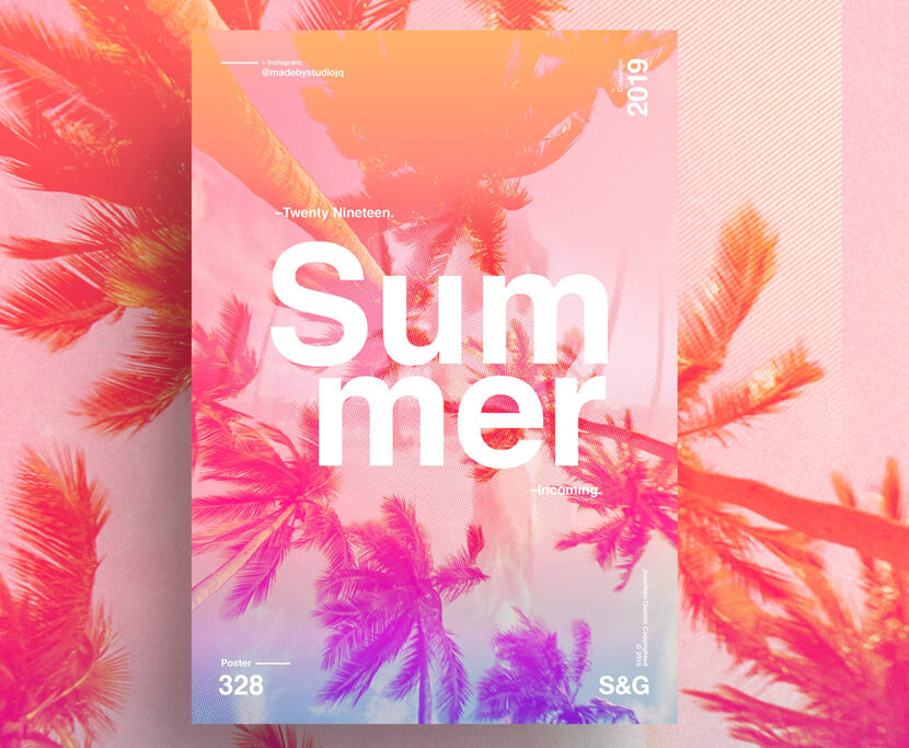 Summer Incoming photography poster example