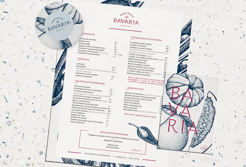 La Bavaria Restaurant menu design for inspiration