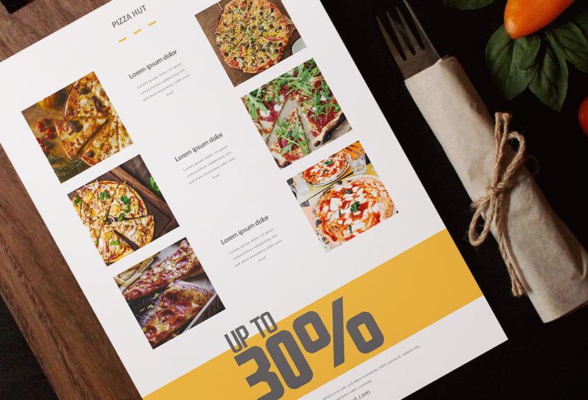 food menu minimalist design for inspiration