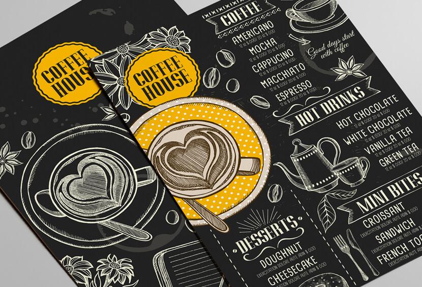 Coffee vintage menu design for inspiration